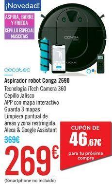 Oferta de Aspirador robot Conga 2690 Cecoctec por 269€