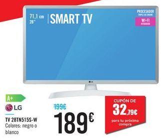 "Oferta de TV 28"" SMART TV 28TN515S-W LG por 189€"