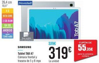 Oferta de Tablet TAB A7 SAMSUNG por 319€