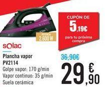 Oferta de Plancha vapor PV2114 Solac por 29,9€