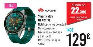 Oferta de Smartwatch GT ACTIVE HUAWEI por 129€