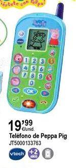 Oferta de Teléfono de juguete Peppa pig por 19,99€