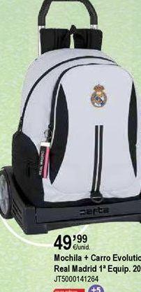 Oferta de Mochilas escolares Real Madrid por 49,99€