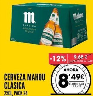 Oferta de Cerveza Mahou por 8,49€