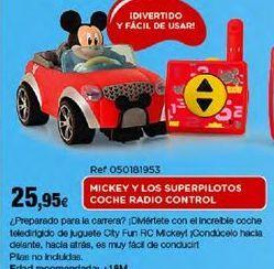 Oferta de Coche teledirigido Mickey Mouse por 25,95€
