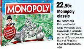 Oferta de Monopoly hasbro por 22,95€
