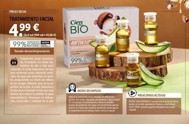 Oferta de Tratamiento facial Cien por 4,99€