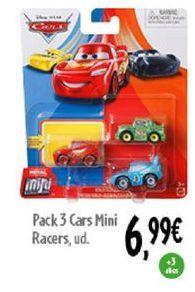Oferta de Pack 3 Cars mini racers  por 6,99€