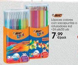 Oferta de Lápices colores con sacapuntas o rotuladores Kid  por 7,99€