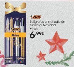 Oferta de Bolígrafo cristal edición especial Navidad BIC por 6,99€