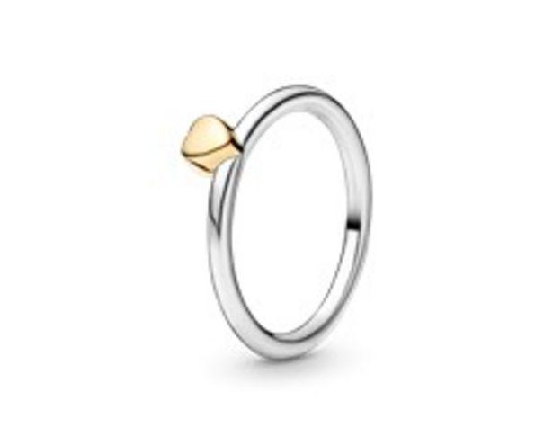 Oferta de Anillo en plata de ley y oro Corazón Misterioso por 69€