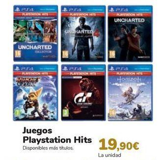 Oferta de Juegos Playstatio Hits  por 19,9€