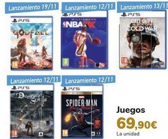 Oferta de Juegos  por 69,9€