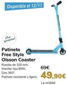 Oferta de Patinete Frees Style Olsson Coaster  por 49,9€