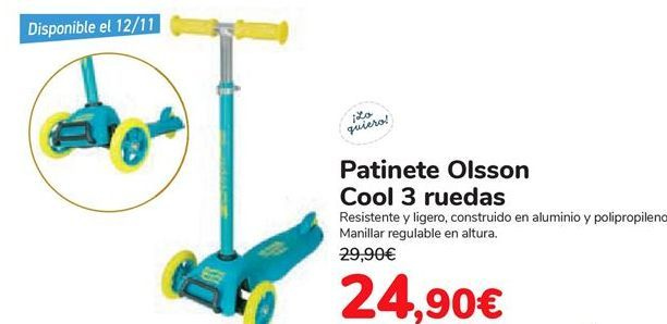 Oferta de Patinete Olsson Cool 3 ruedas  por 24,9€
