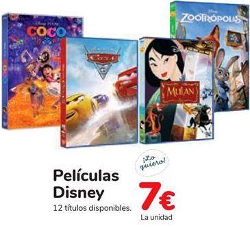 Oferta de Películas Disney  por 7€