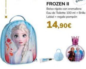 Oferta de Bolso rígido con cremallera Eau de Toilette + Brillo labial + regalo pompón FROZEN II por 14,9€
