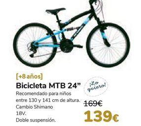 Oferta de Bicicleta MTB 24''  por 139€