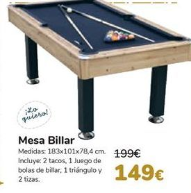 Oferta de Mesa Billar  por 149€