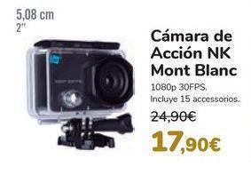 Oferta de Cámara de Acción NK Mont Blanc por 17,9€