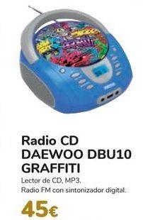 Oferta de Radio CD DAEWO DBU10 GRAFFITI por 45€