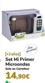 Oferta de Set Mi Primer Microondas por 14,9€