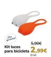 Oferta de Kit luces para bicicletas  por 2,99€