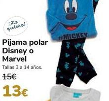 Oferta de Pijama polar Disney o Marvel  por 13€