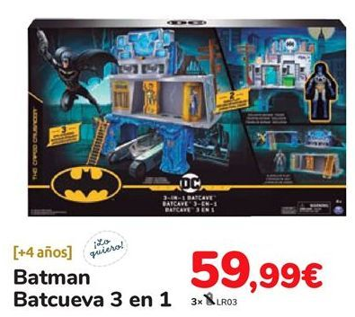Oferta de Batman Batcueva 3 en 1 por 59,99€