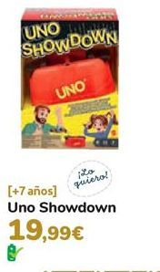 Oferta de Uno showdown  por 19,99€