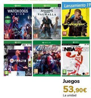Oferta de Juegos  por 53,9€