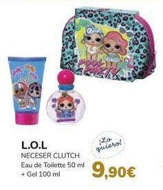 Oferta de L.O.L NECESER CLUTCH Eau de Toilette + Gel  por 9,9€