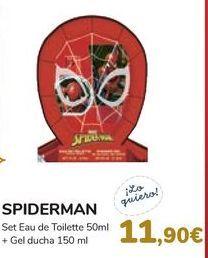 Oferta de Set Eau de Toilette + Gel de ducha SPIDERMAN  por 11,9€