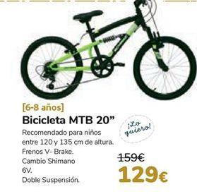Oferta de Bicicleta MTB 20'' por 129€