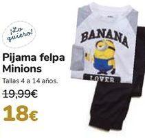 Oferta de Pijama felpa Minions  por 18€