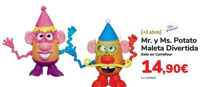 Oferta de Mr. y Ms. Potato Maleta Divertida por 14,9€