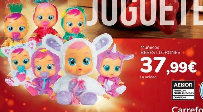 Oferta de Muñecos BEBÉS LLORONES por 37,99€