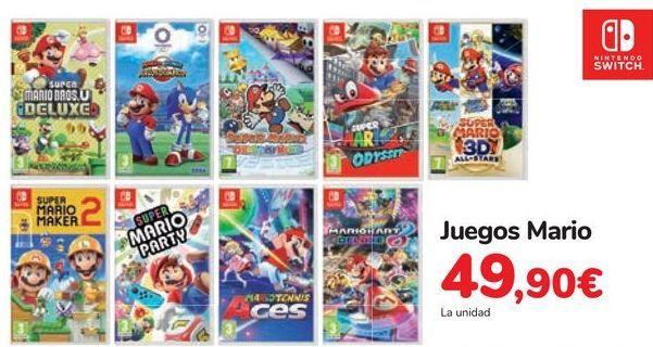 Oferta de Juegos Mario  por 49,9€