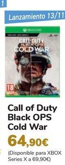 Oferta de Call of Duty Black OPS Cold War por 64,9€