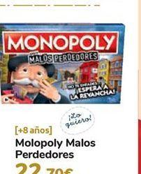 Oferta de Monopoly Malos perdedores  por 22,7€