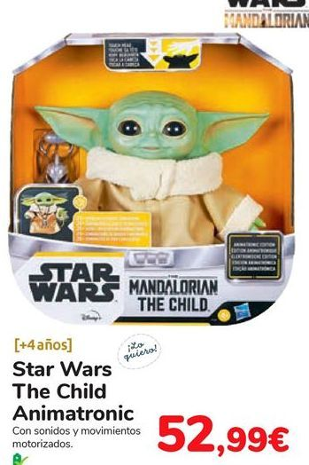 Oferta de Star Wars The Child Animatronic por 52,99€