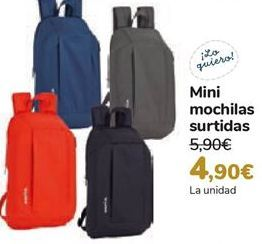 Oferta de Mini mochilas surtidas  por 4,9€