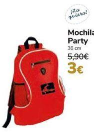 Oferta de Mochila Party  por 3€