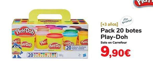 Oferta de Pack 20 botes Play-Doh por 9,9€