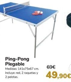 Oferta de Ping-Pong Plegable  por 49,9€