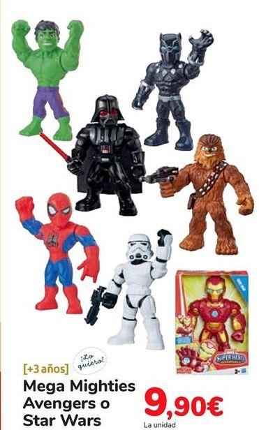 Oferta de Mega Mighties Avengers o Star Wars por 9,9€