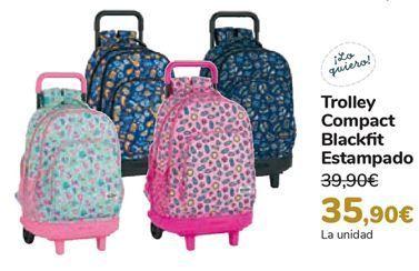 Oferta de Trolley Compact Blackfit Estampado  por 35,9€
