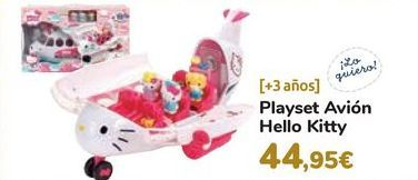 Oferta de Playset Avión Hello Kitty por 44,95€
