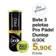 Oferta de Bote 3 pelotas Pro Pádel Dunlop  por 5,9€