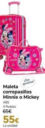 Oferta de Maleta correpasillos Minnie o Mickey  por 55€
